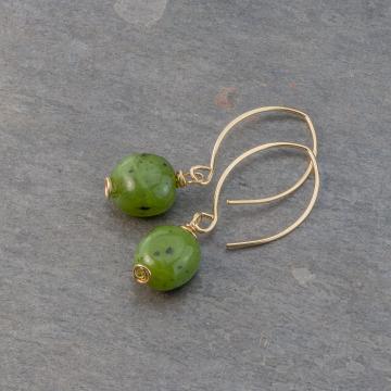 Jade Nugget Earrings